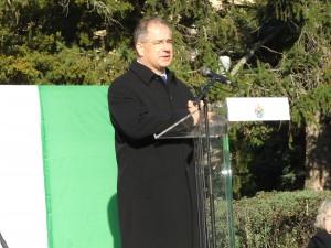 Kósa Lajos országgyűlési képviselő, a megemlékezés ünnepi szónoka
